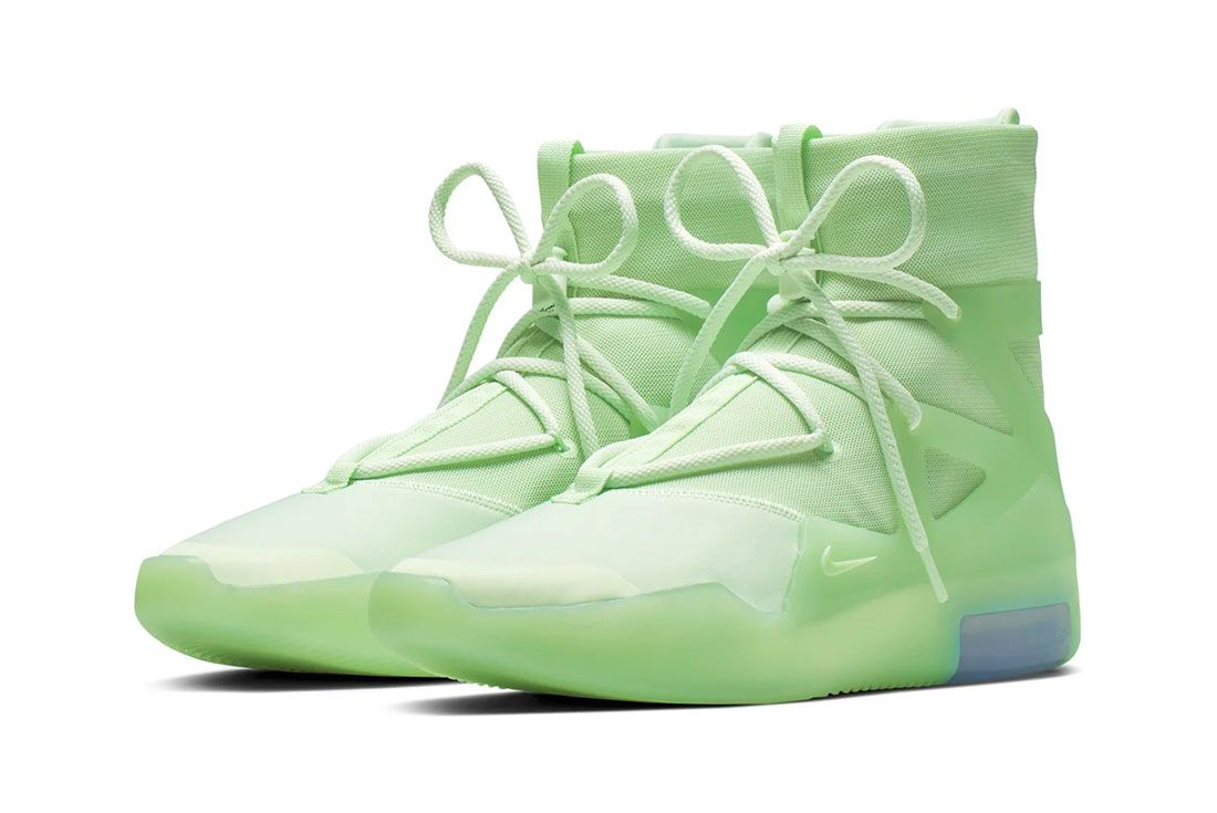 Nike Air Fear Of God 1 Frosted Spruce Three Quarter Lateral Side Shot