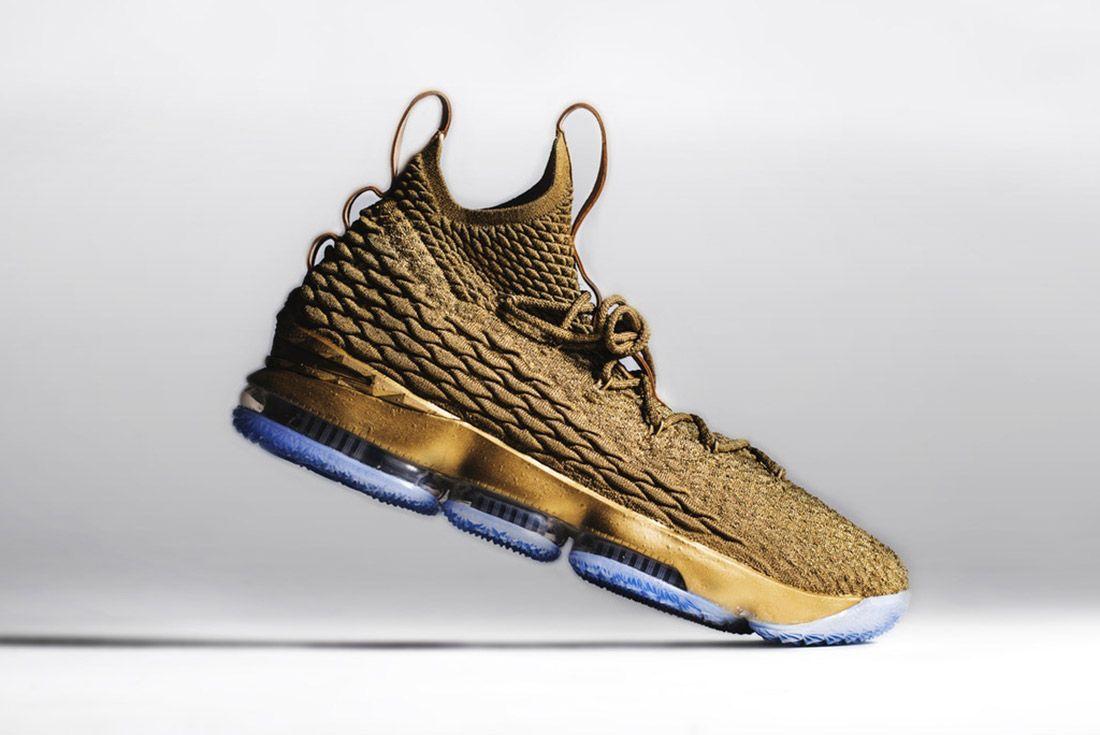 Nike Lebron 15 Gold Custom 4