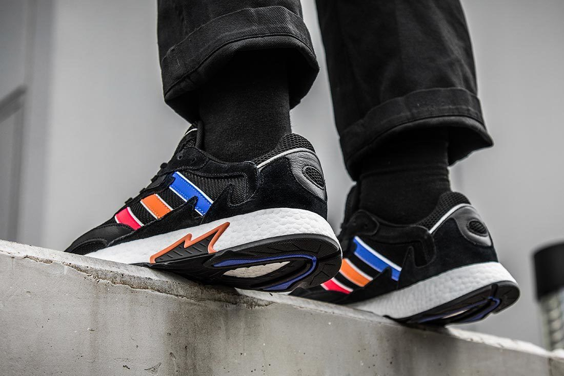 Black Multicolour Adidas Tresc Run Heel Shot