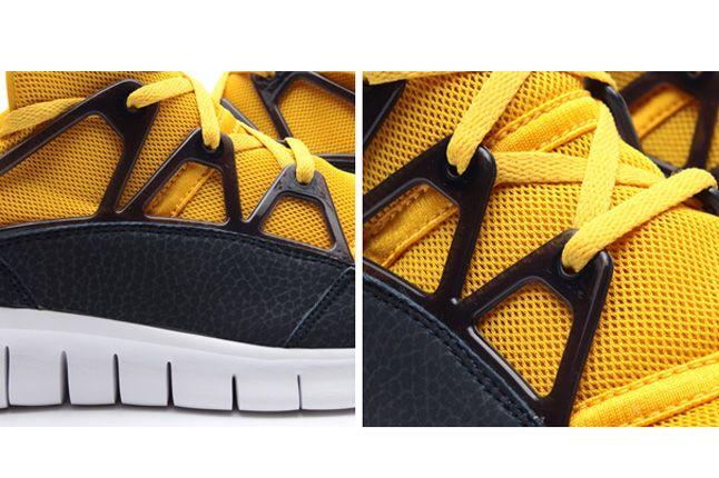 Nike Free Huarache Light Flat Gold Vivid Sulfur 1