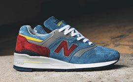 New Balance 997 Burgundy Teal Thumb