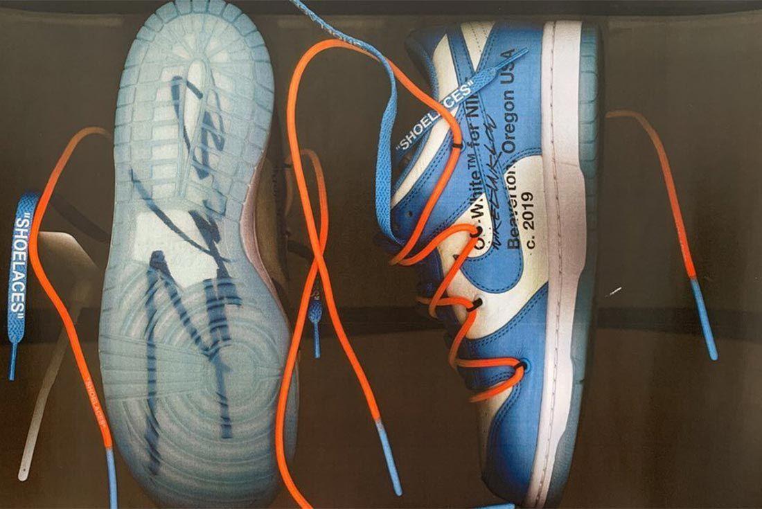 Virgil Abloh Nike Dunk Medial Sole Side Shot
