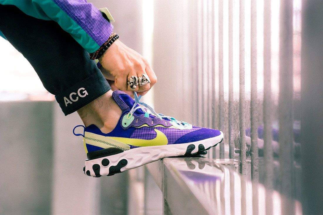 Bespoke Ind Nike React Element 87 Acg On Foot 14