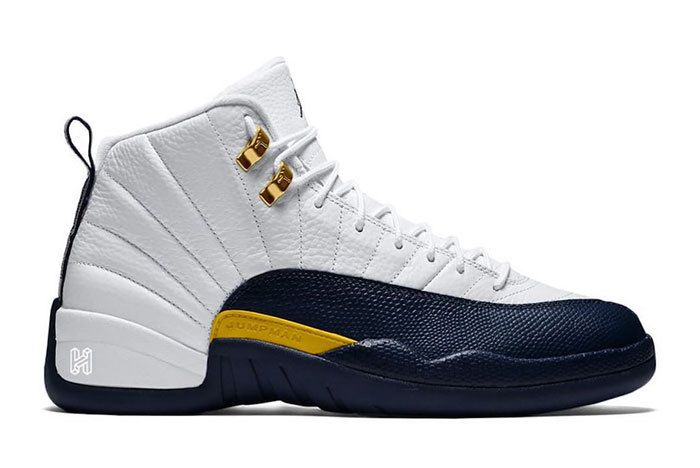 Air Jordan 12 Michigan Home White Amarillo Metallic Gold Midnight Navy 130690 147 Release Date