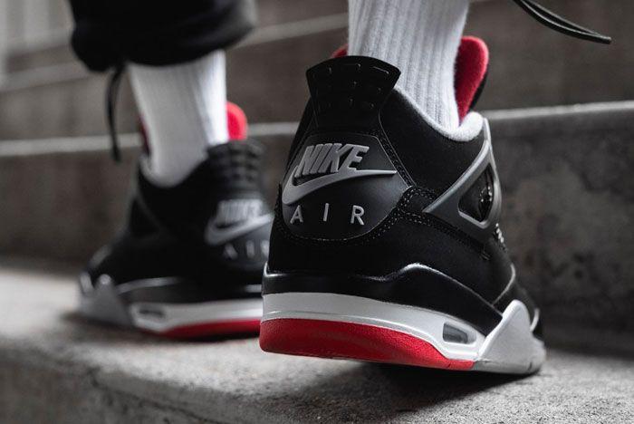 Air Jordan 4 Bred Heel