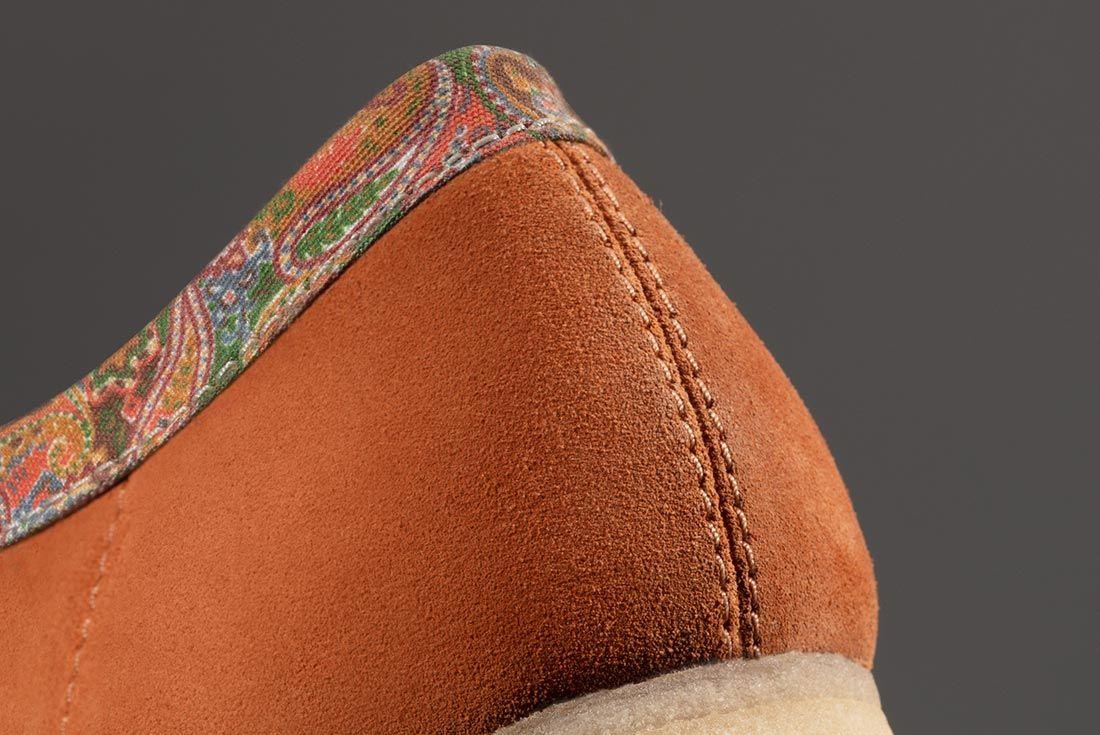 Stussy Clarks Wallabees Heel Brown Detail