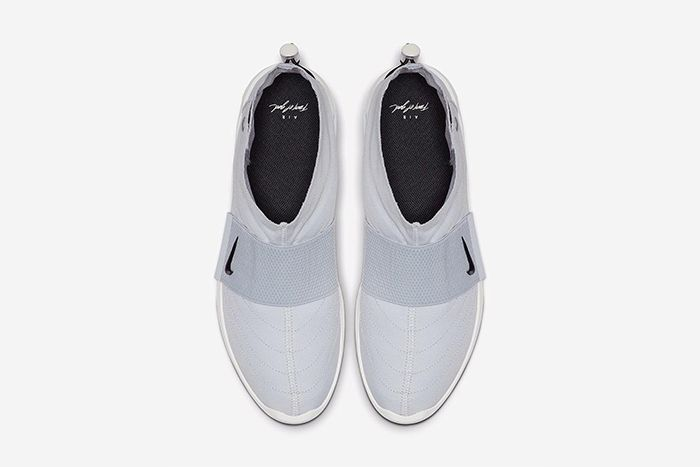 Nike Air Fear Of God Moccasin Official Pure Platinum Release Date Top Down
