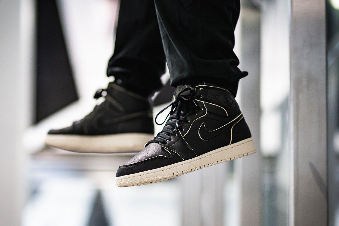 Afew Store Sneaker Air Jordan 1 Retro High Prem Black Black Desertsand 314 Sneaker Freaker