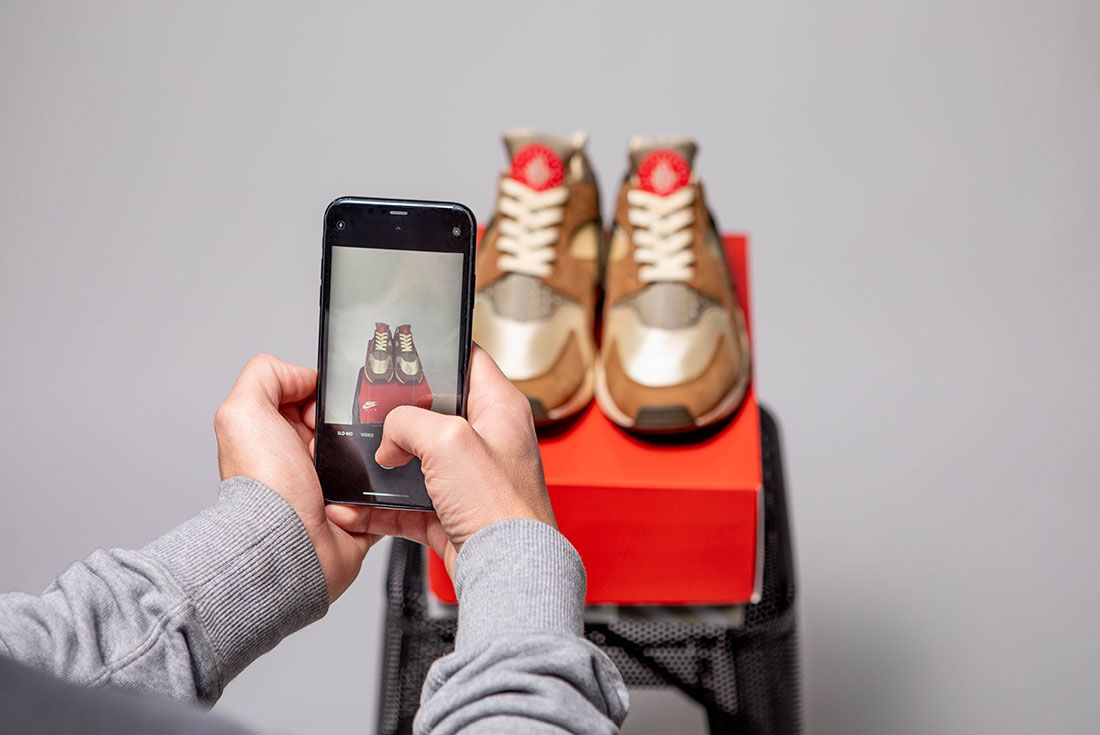 Sneaker Phone Photography