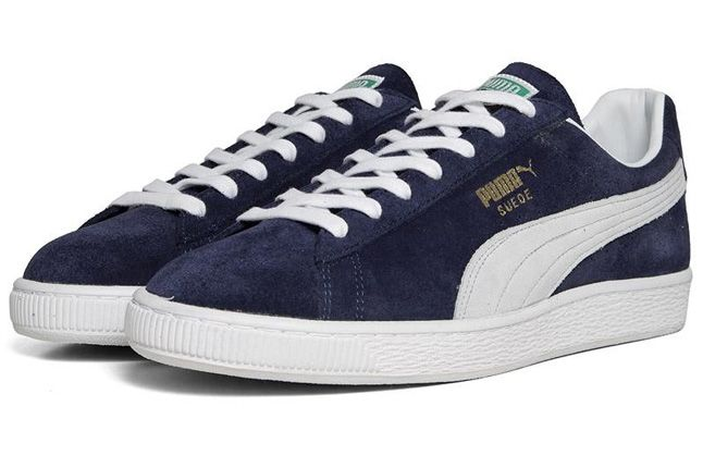 Puma Suede Insignia Blue Made In Japan Quater Front Pair 1