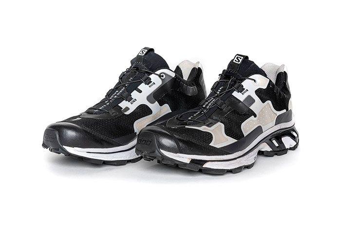 11 By Boris Bidjan Saberi X Salomon Spring Summer 2020 Footwear Black Three Quarter Angled Side Shot
