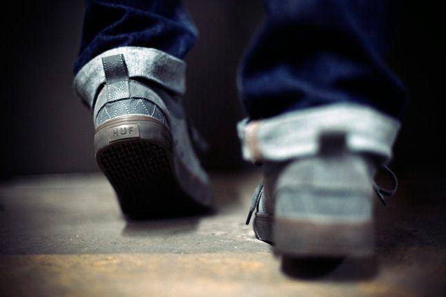 Huf Ramondetta Pro Grey Heel Detail 1