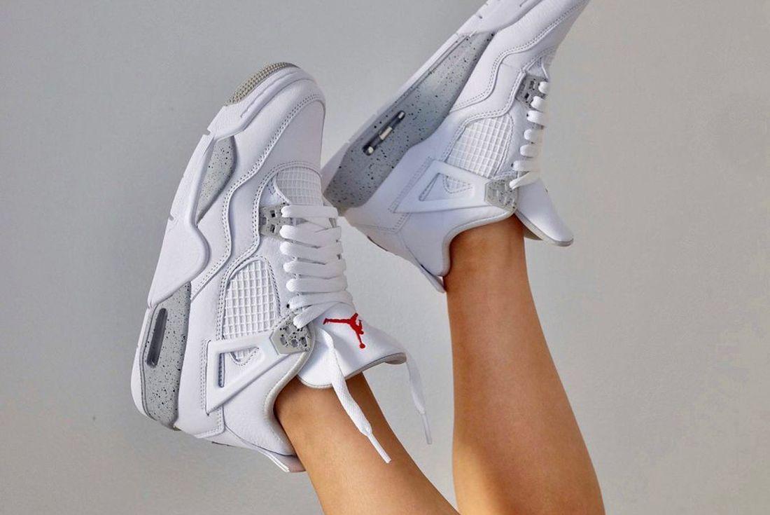 Air Jordan 4 Tech White AKA White Oreo