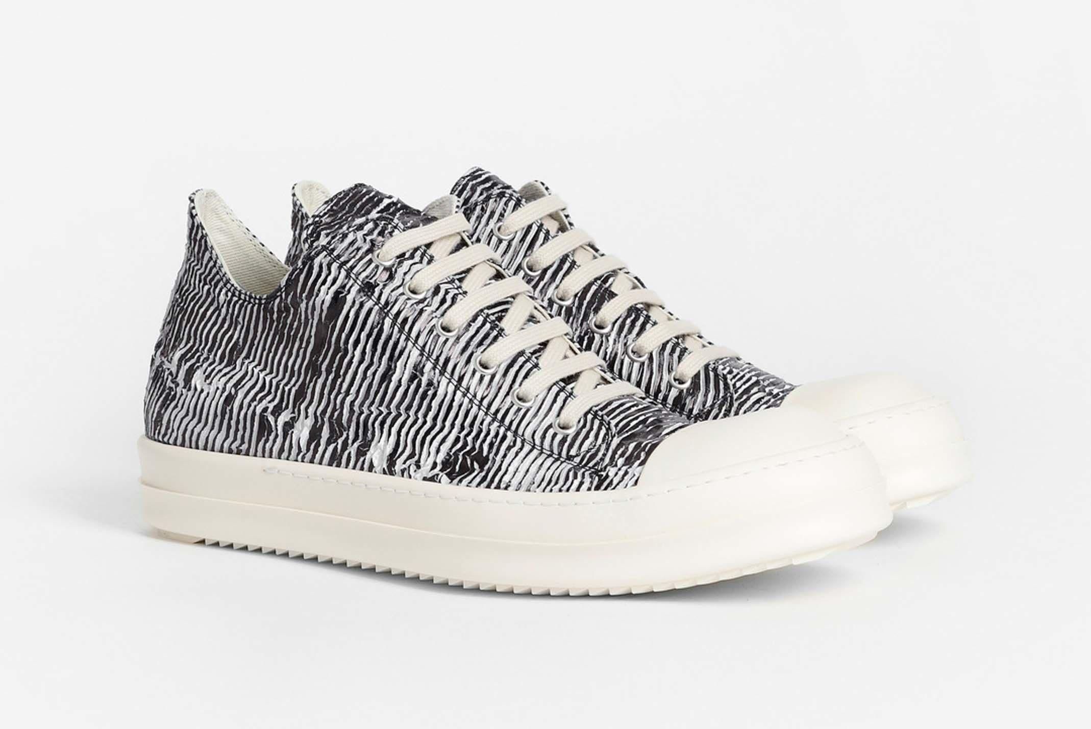 Rick Owens Drkshdw Zebra Trainer Low Release 002 Sneaker Freaker