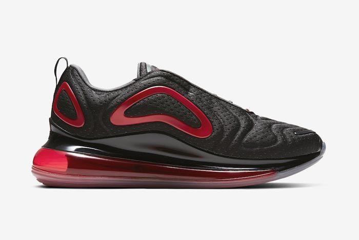 Nike Air Max 720 Black Red Medial