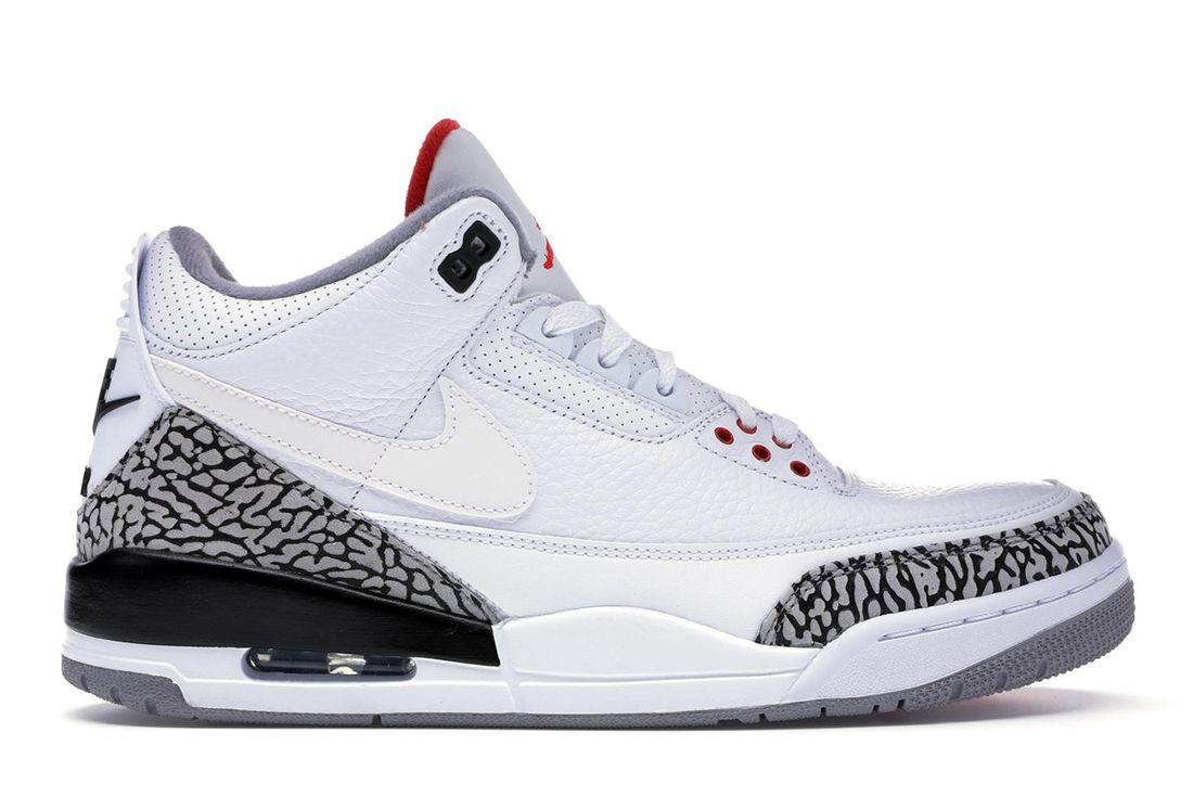 Air Jordan 3 Jth Super Bowl White Cement Lateral Side Shot