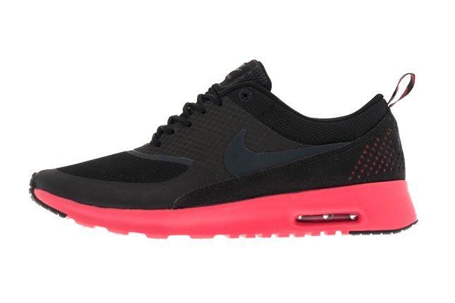 Nike Air Max Thea Black Electricpink Profile 1