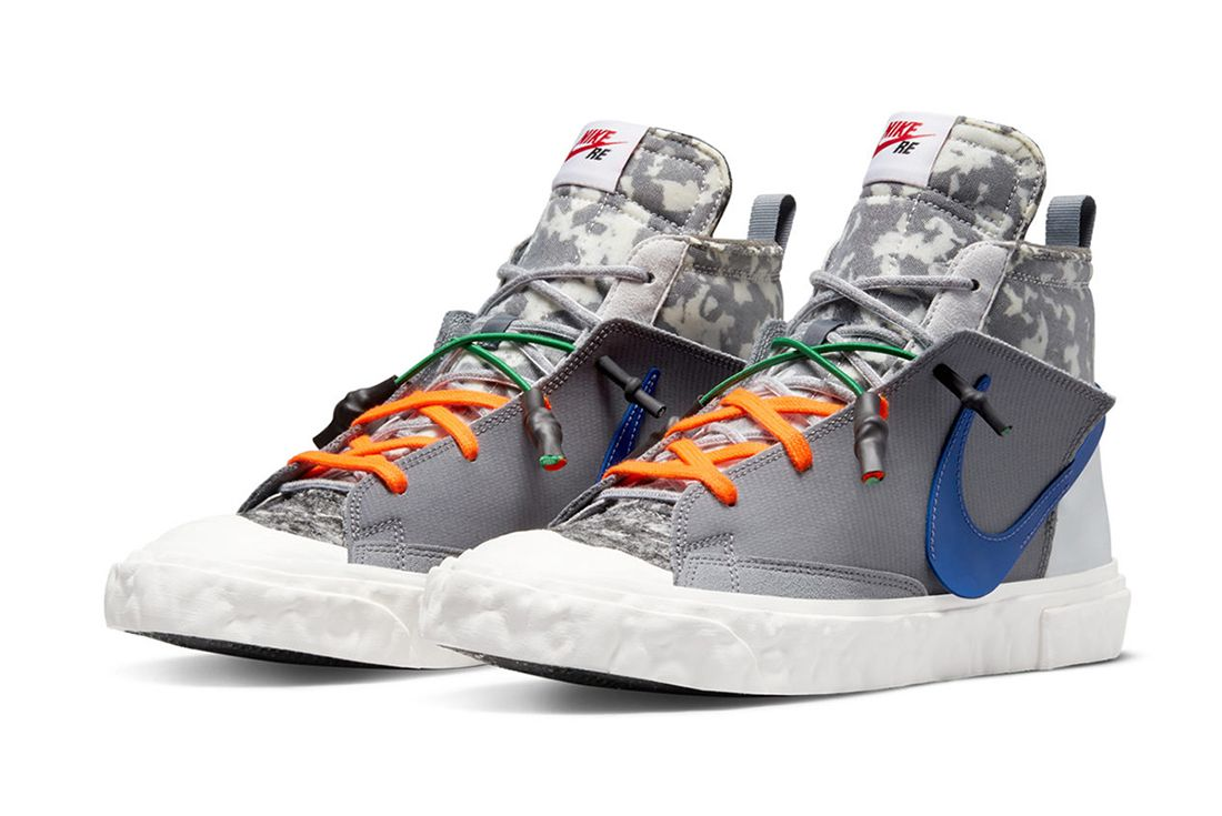 READYMADE x Nike Blazer Mid grey on white