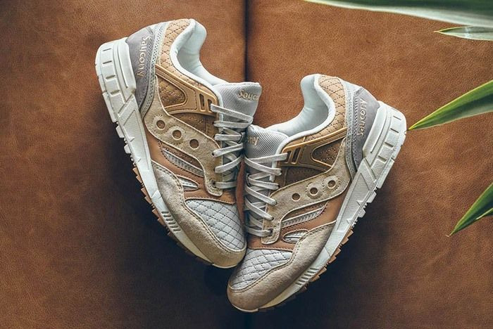 Saucony Grid Sd Quilted Tan Grey 1