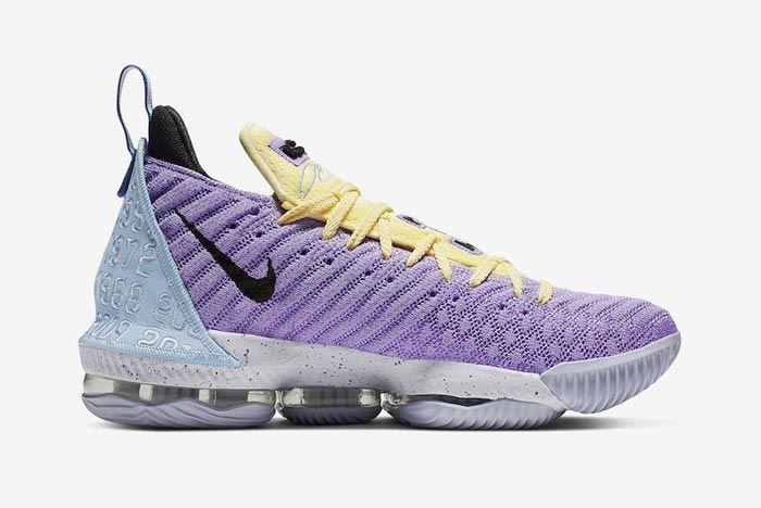 Nike Lebron 16 Lakers Heritage Medial