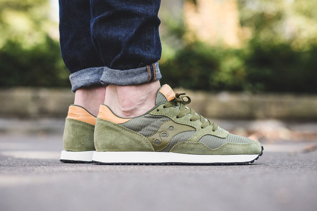 Saucony Dxn Trainer Olive Green 5