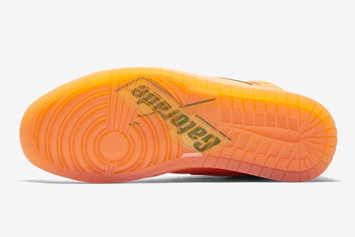 Gatorade X Air Jordan 1 Orange Peel Official Images6