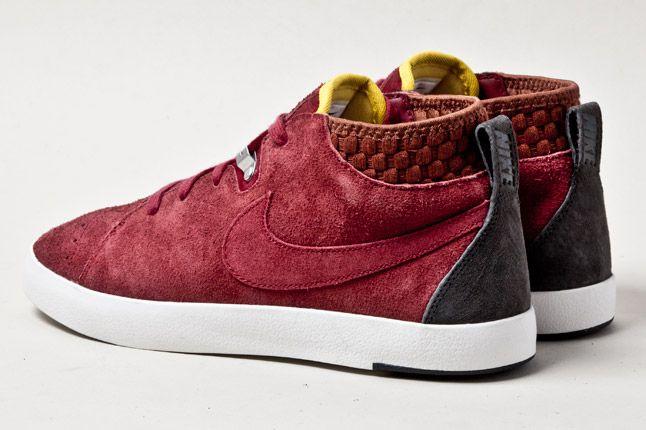 Nike Kenshin Chukka Lthr Deep Red Heels 1