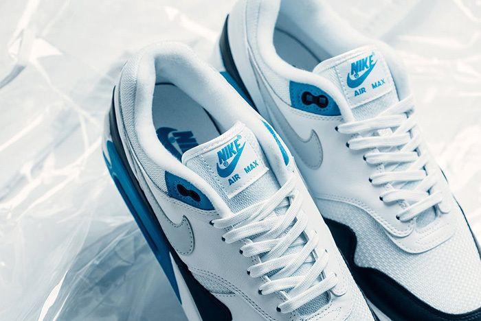 Nike Air Max 90 1 Neutral Grey White Laser Blue 3