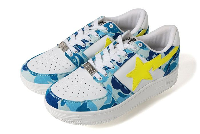 Bape Bapestar Low Blue Camo Left Side Shot