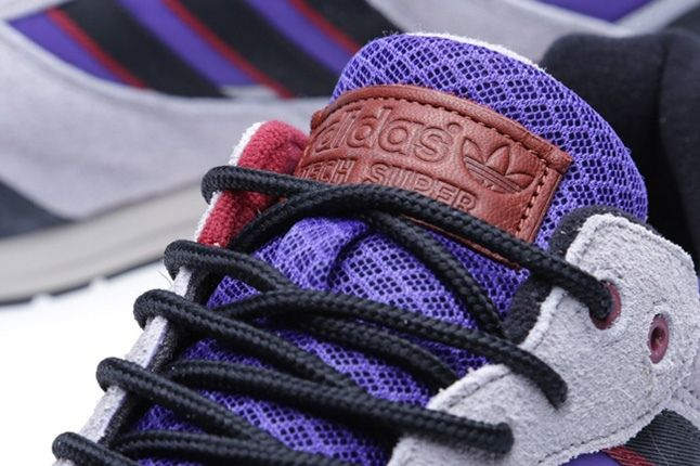 Adidas Tech Super Blast Purple Tongue Detail 1