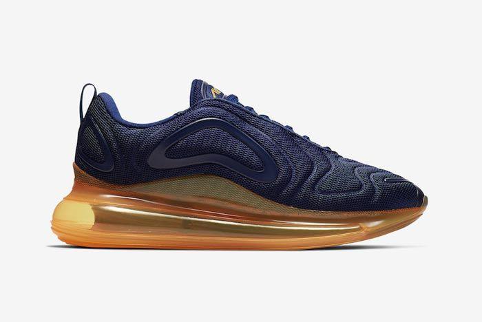 Nike Air Max 720 Midnight Navy Laser Orange Medial
