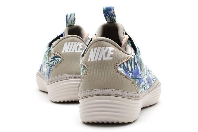 Nike Solarsoft Moccasin Sp Tropical Floral Pack Bone Purple Heel Profile 1