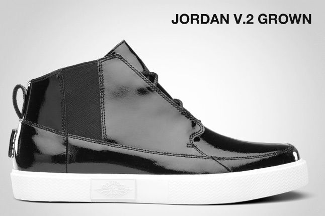 Jordan V 2 Grown Black Patent 1