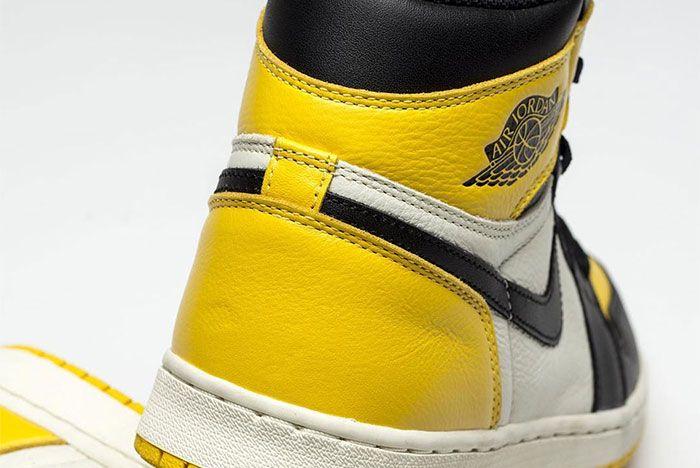 Air Jordan 1 Yellow Toe Collar