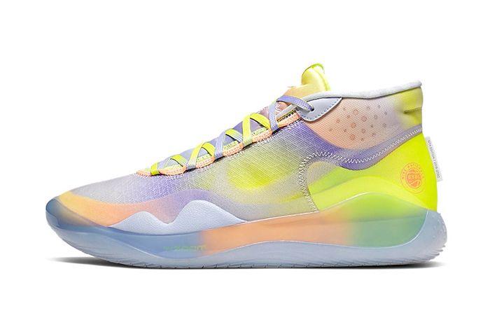 Nike Kd 12 Eybl Yellow Purple Orange Release Date Lateral