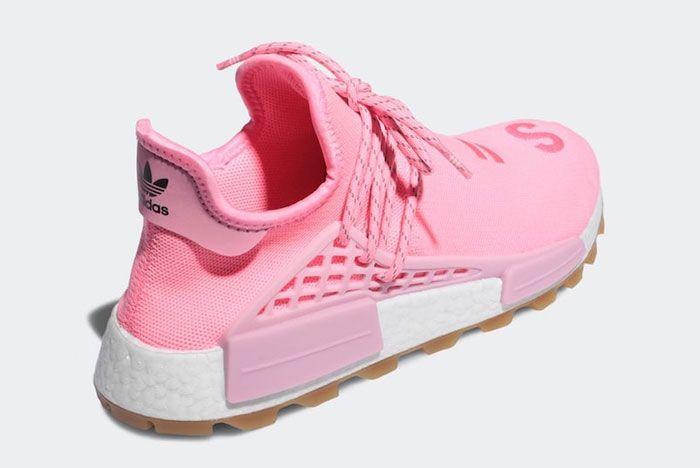 Pharell Adidas Hu Nmd Pink Heel Angle