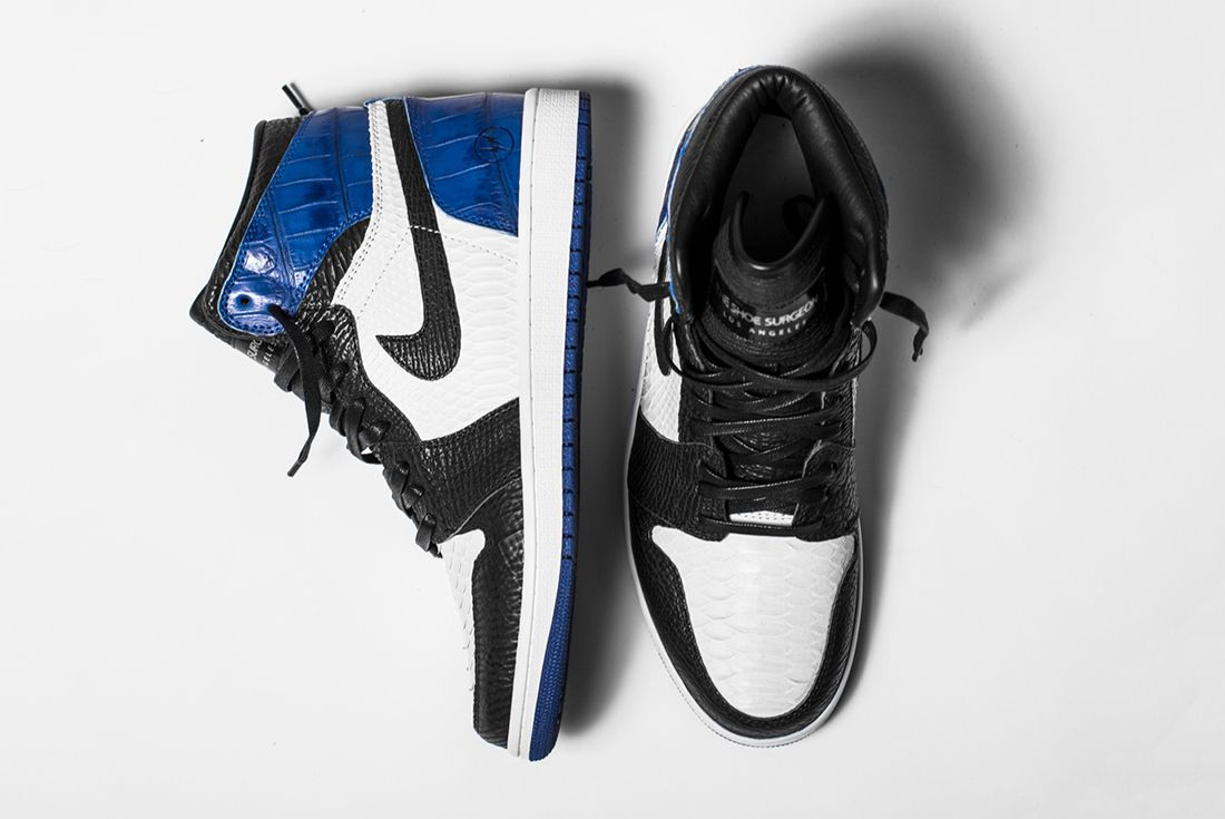 Bespoke Fragment X Air Jordan 1S By The Shoe Surgeon4