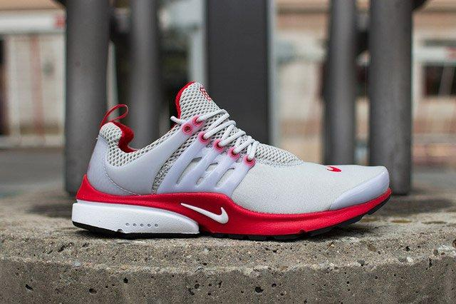 Nike Air Presto Grey Red Sideview
