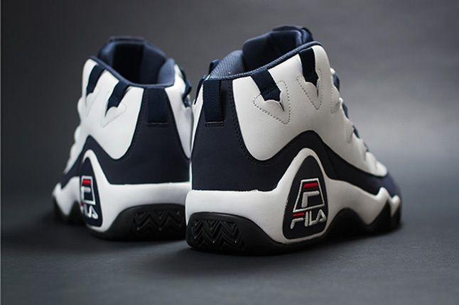 Fila 95 Retro Grant Hill White Heel Profile 1