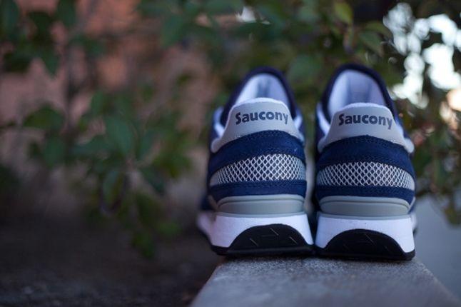 Saucony Shadow Original Navy Heel Detail 1