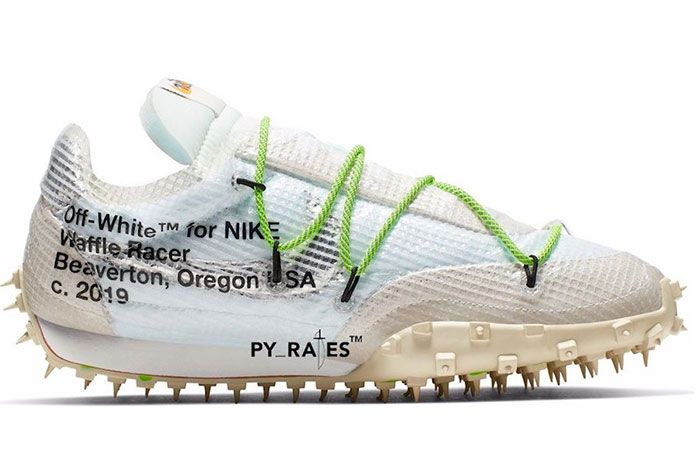 Off White Nike Waffle Racer White Black Electric Green Release Date 2