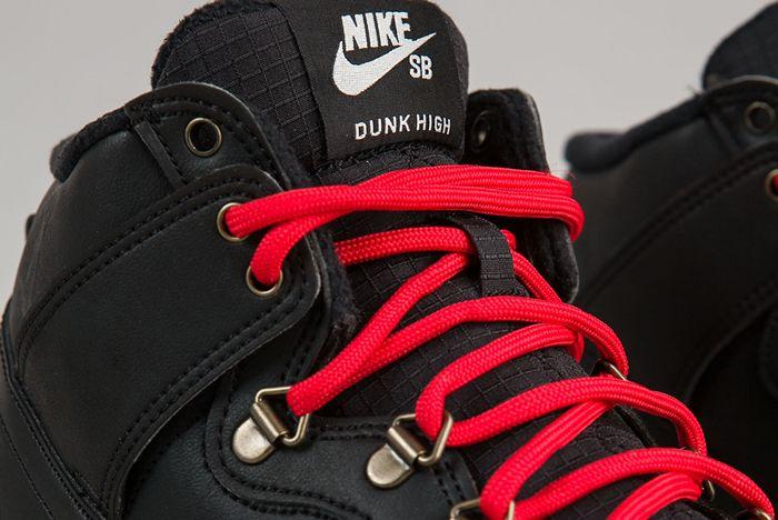 Nike Sb Dunk High Boots Black Sail B