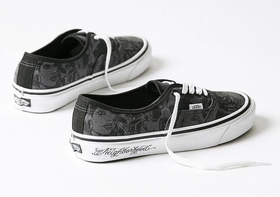 NEIGHBORHOOD Mister Cartoon Vans Authentic Lateral
