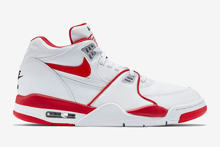 Nike Air Flight 89 White University Red 819665 100 Lateral