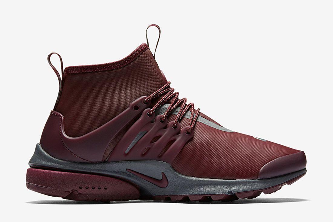Nike Air Presto Mid Utility Burgundy 7