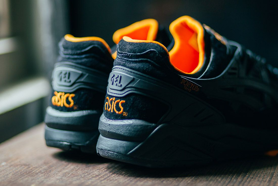 Porter Asics Gel Kayano Trainer Black Orange 6