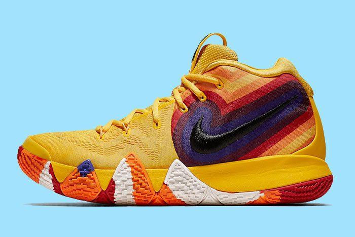 Nike Kyrie 4 Yellow Multicolor 943807 700 Release Date Sneaker Freaker