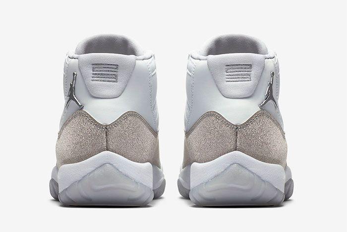 Air Jordan 11 Metallic Silver Heel