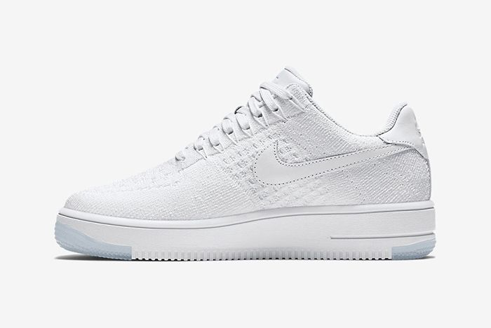 Nike Air Force 1 Low Flyknit White On White10