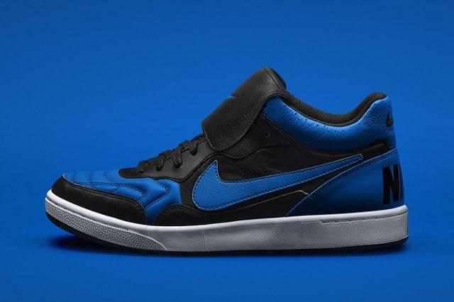Nike Tiempo 94 Jordan Black Blue Profile